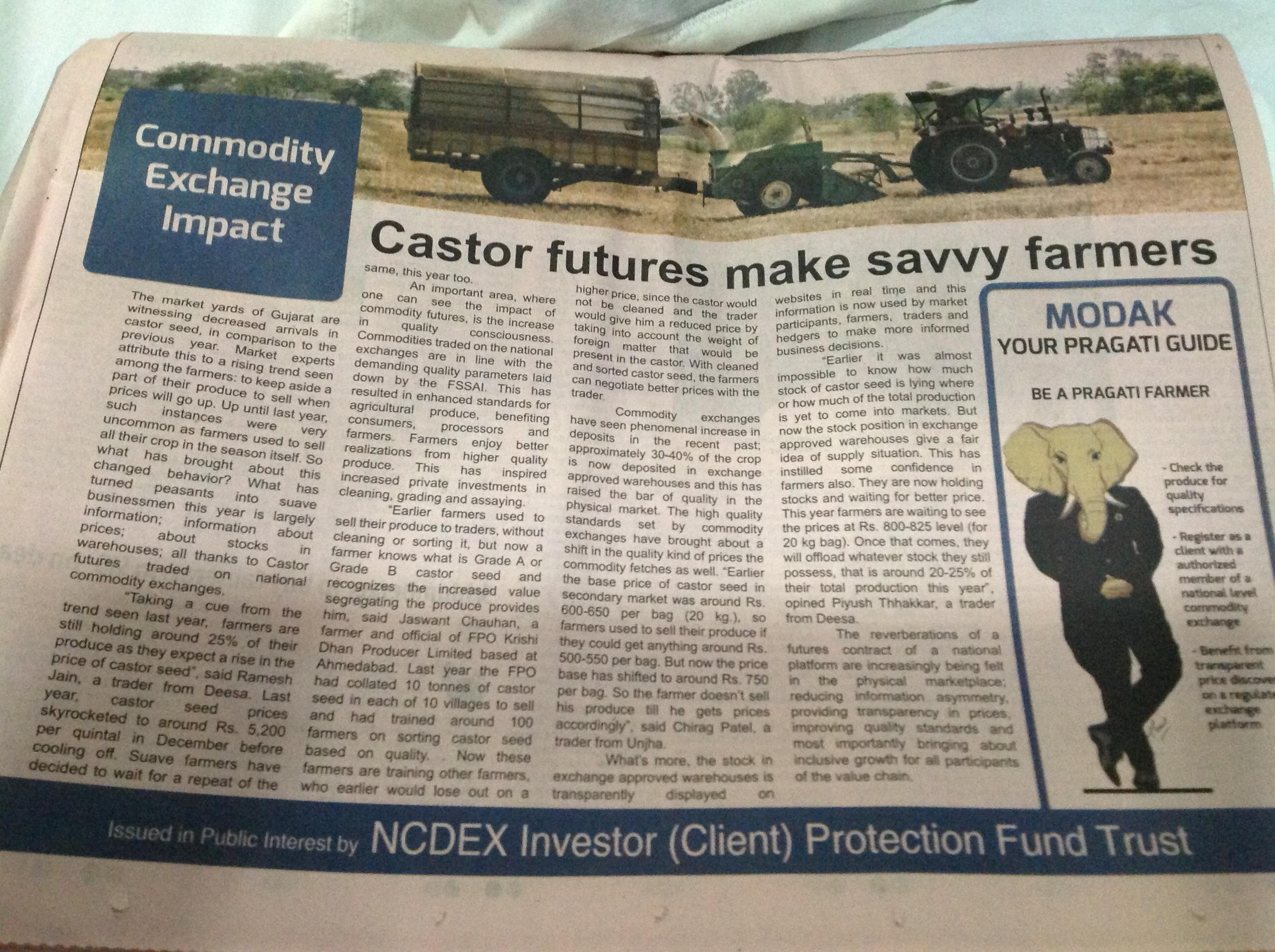 castor futures