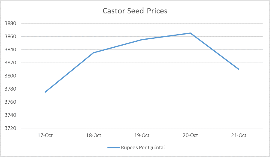 Castor Seed Price Weekly Report: Oct 17 – 21, 2016